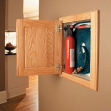 What a great way designate a place for emergency safety items!