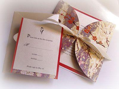 Modern Asian Wedding Invitation Faith Wedding Invitation :: Handmade, Unique & Couture Wedding Invitations