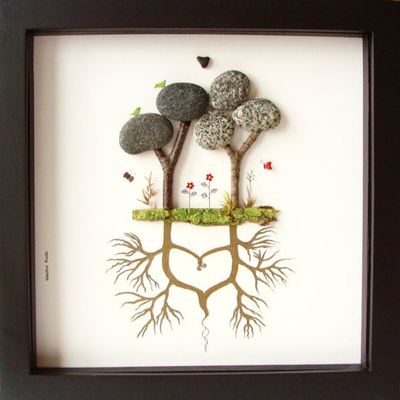 Unusual Wedding Gifts For Bride And Groom Suggestions : ... Wedding Gift-Pebble Art-Bride and Groom Gift-Unique Wedding Picture