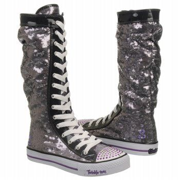 Skechers Electric Dreams Pre/Grd Shoes (Gunmetal/Purple) - Kids' Shoes - 2.5 M