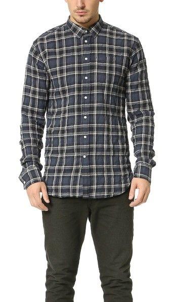 Officine Generale Lipp Stitch Japanese Twill Shirt
