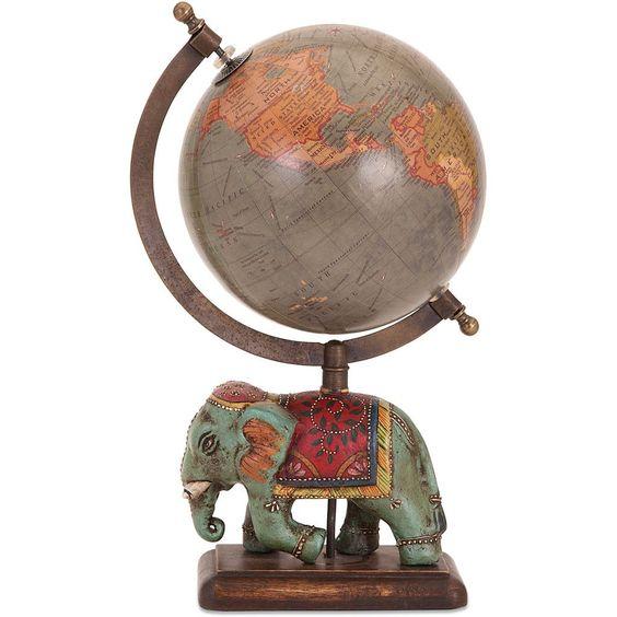 Dacey Large Elephant Globe