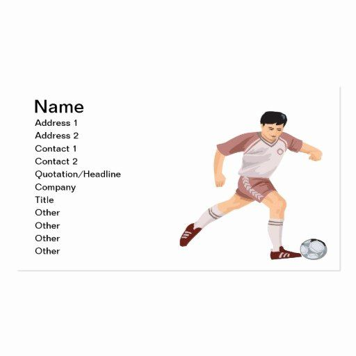 Soccer Player Cards Template Beautiful Soccer Player Double Sided Standard Business Cards Pack Player Card Soccer Players Football Trading Cards