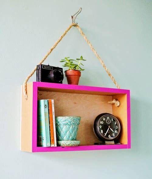 Estanterías decorativas con aire vintage chic
