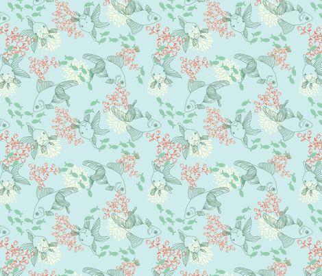 Goldfish Bowl fabric by lydia_meiying on Spoonflower - custom fabric
