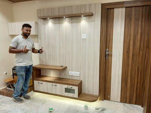 Small Tv Cabinet For Living Dining Room Final Interior Jagat Youtube Tv Cabinet Design Modern Tv Cabinet Design Small Tv Cabinet