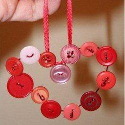Button Heart Ornament