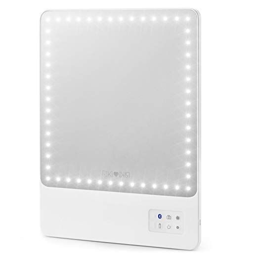 Glamcor Riki Skinny Lighted Mirror Review Mirror With Lights Personal Mirror Magnification Mirror