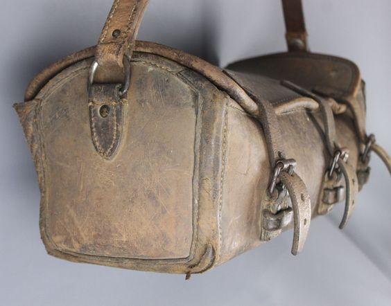 Vintage French Artisan Plumber Leather Tool Bag | eBay