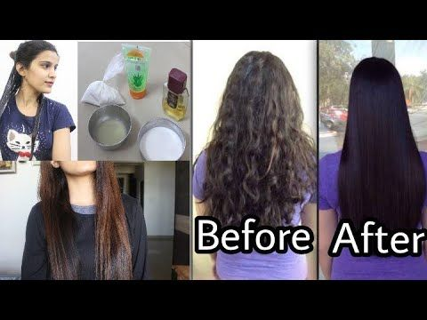 Permanent Hair Straightening At Home Only Natural Ingredients Super Straightening Natural Hair Hair Solutions Straightening Hair Tips