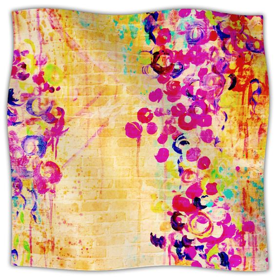 Wall Flowers Fleece Throw Blanket