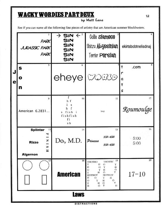 Printables Wacky Wordies Worksheets pin by karen carter on word puzzles pinterest scribes logophiles
