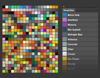 Photoshop Swatches Library for Flat UI Design