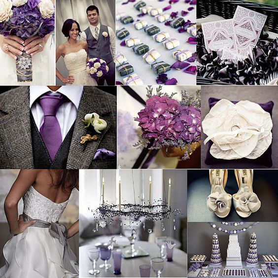 Eggplant And Red And Purple Wedding Ideas: Eggplant & Charcoal Wedding Theme