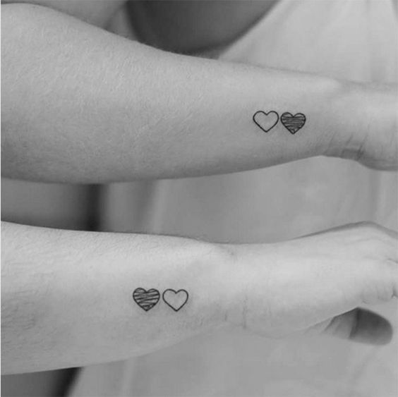 30 Valentine S Day Couple Matching Tattoo Designs Page 17 Of 30