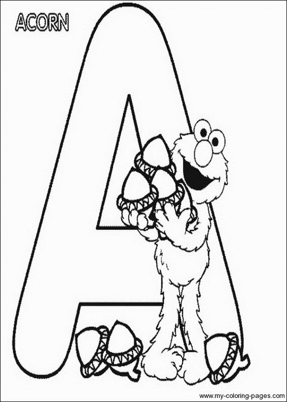sesame street letter d coloring pages | Sesame Street Letter coloring sheets | Preschool Reading ...