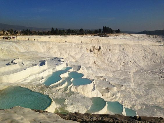 Hierapolis-Pamukkale / travertine terraces