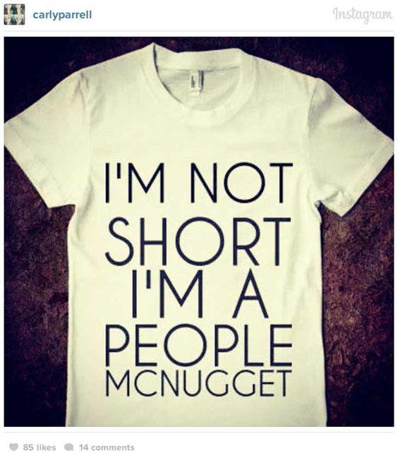 No soy pequeña... Soy un Mc nugget humano!