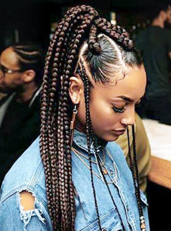 39 Crazy Braided Ponytail Hairstyles With Images Cornrow