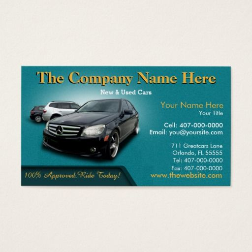 Auto Dealership Sales Auto Sales Double Sided Business Card Zazzle Com In 2021 Double Sided Business Cards Car Dealership Graphic Design Business Card