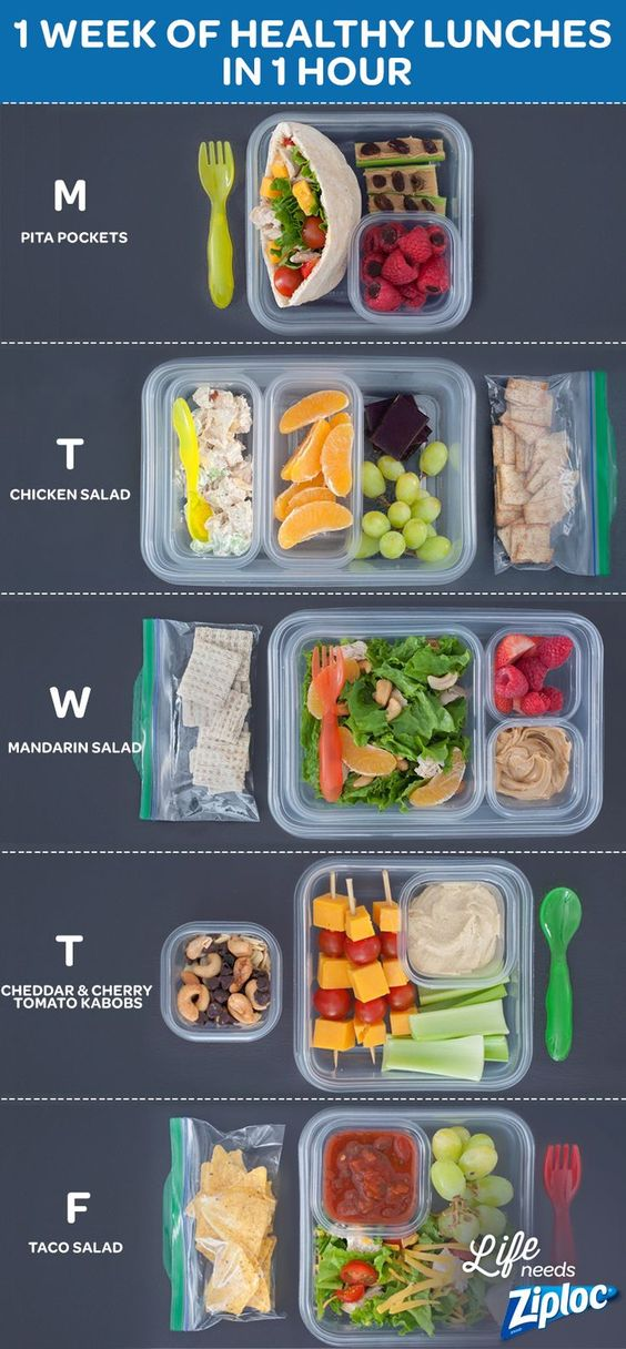 You don't need to spend a ton of money or time on healthy lunches. http://ziploc.com/inspiration/food/lunch/one-week-lunches-you-can-make-in-1-hour?cid=social_Pinterest_promoted-1WeekOfLunches-081215_JAS2015