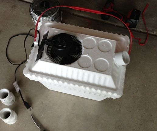 Make your own Air Conditioner! Would be great for camping (with an electrical outlet available)