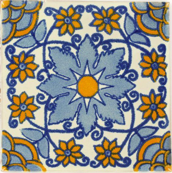 Mexican Tile - Blue Monarca Mexican Tile