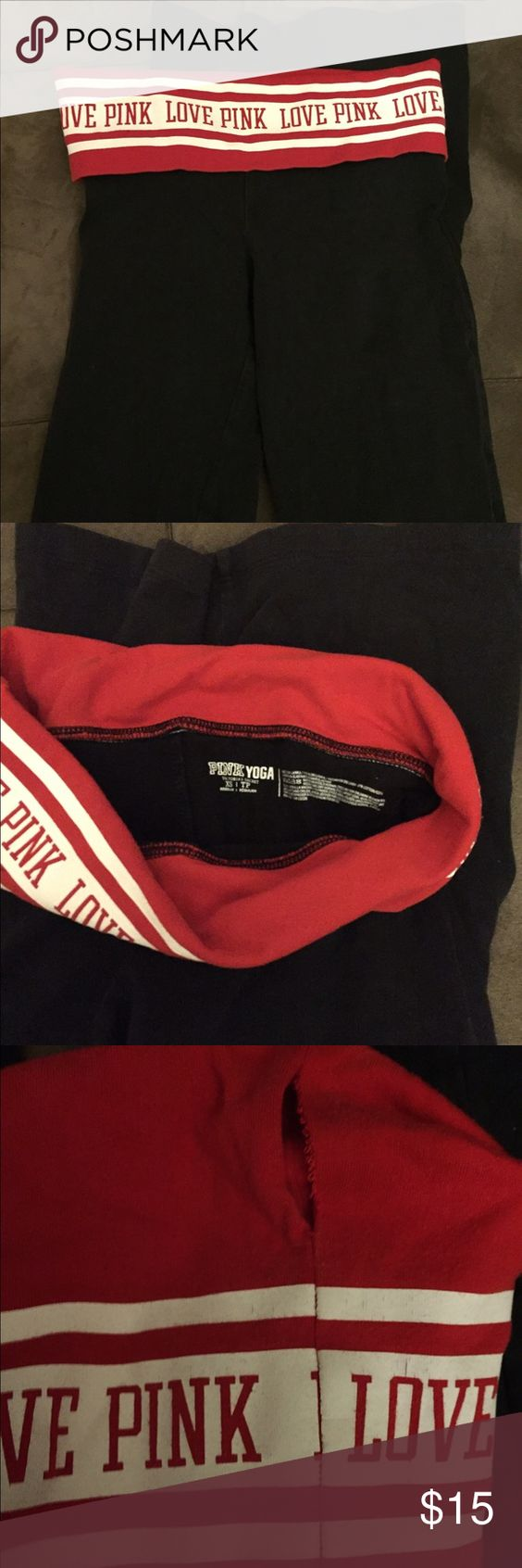 Victoria's Secret Pink yoga pants In good worn condition except the rip on the side. Pants Boot Cut & Flare