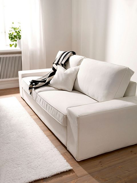 ikea kivik 3 seater sofa cover white slipcover custom. Black Bedroom Furniture Sets. Home Design Ideas
