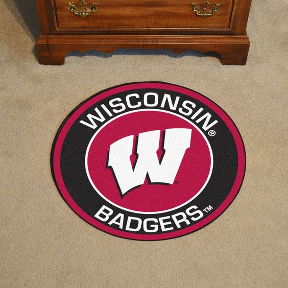 NCAA University of Wisconsin Roundel Mat