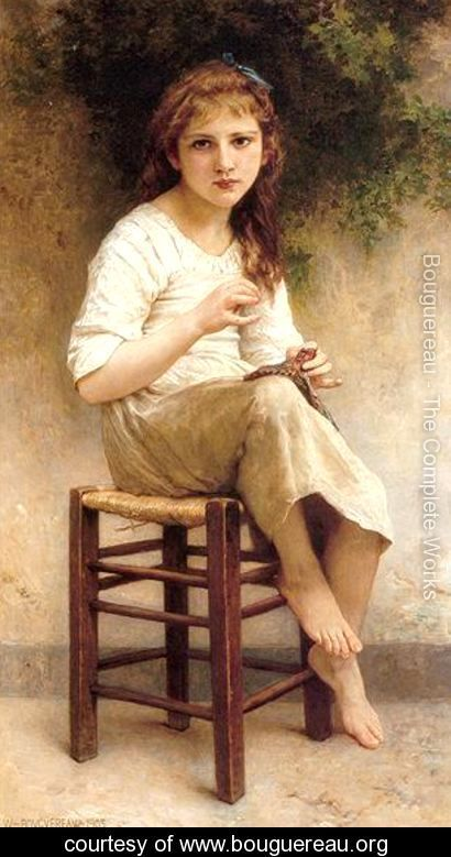 Young Sewing Girl - William-Adolphe Bouguereau