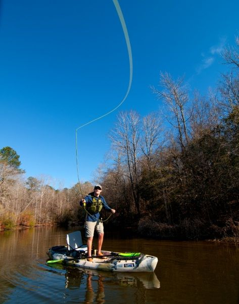 Intro to kayak flyfishing how to get started flyfishing for Fly fishing canoe