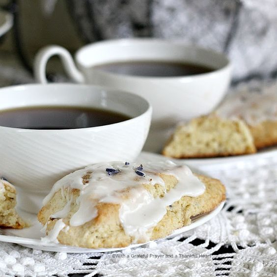 With a Grateful Prayer and a Thankful Heart: Sweet Lavender Scones in the Parlor