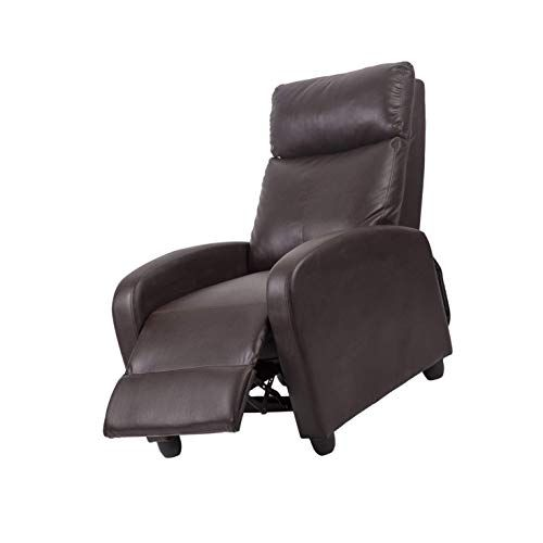 Leather Chaise Couch Single Accent Recliner Chair Sofa 87 Recliner