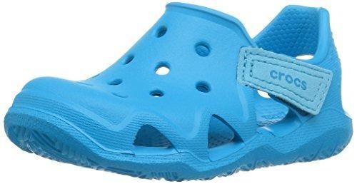 Crocs 204021, Zapatos de Cordones Oxford Unisex Niños, Azul (Ocean), 24/25 EU