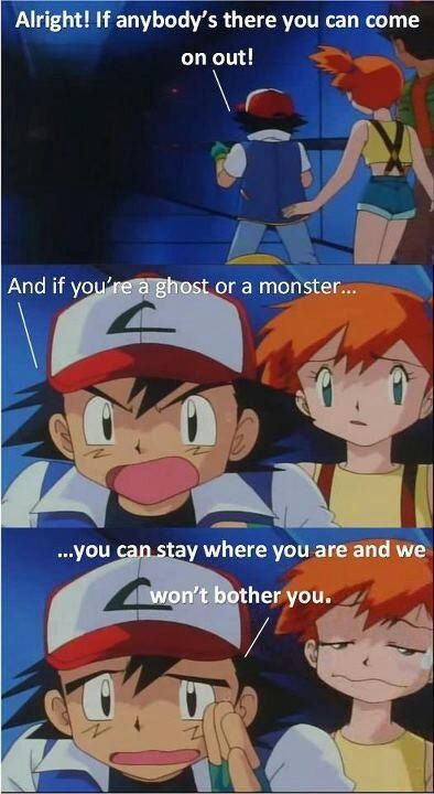 I totally agree with Ash there ... pokemon, misty, ash, brock