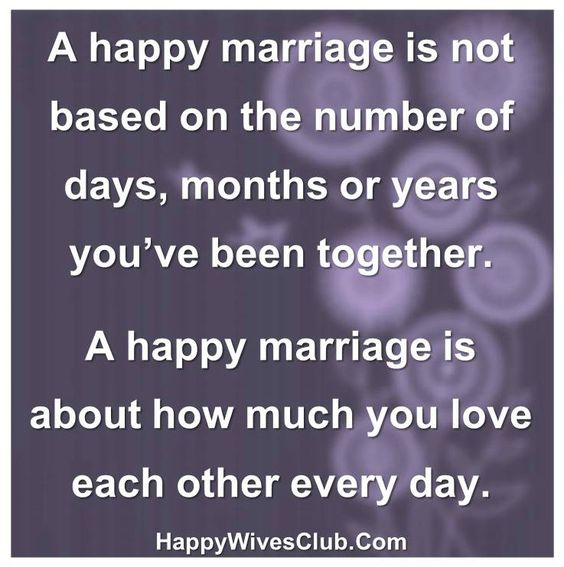 A Happy Marriage Is Not Based On Numbers