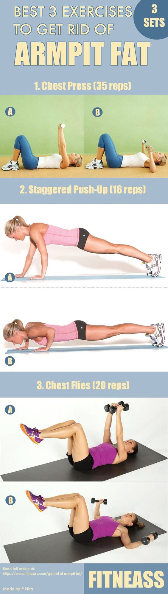 Best 3 Exercises To Get Rid Of Armpit Fat #strong #fitness