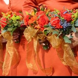 Hagans/Wilson Wedding - Bridesmaids' Bouquets Fall Collection