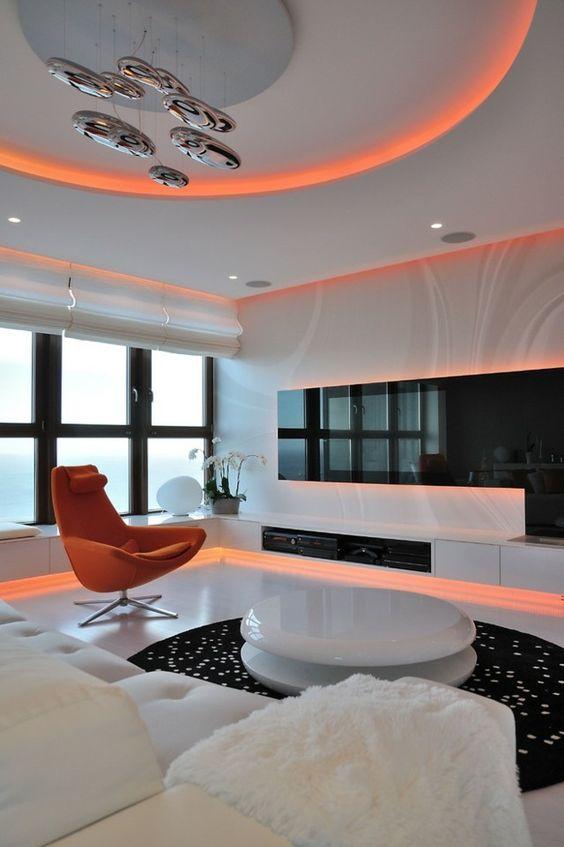 indirekte Beleuchtung Wohnzimmer Ideen stilvoll