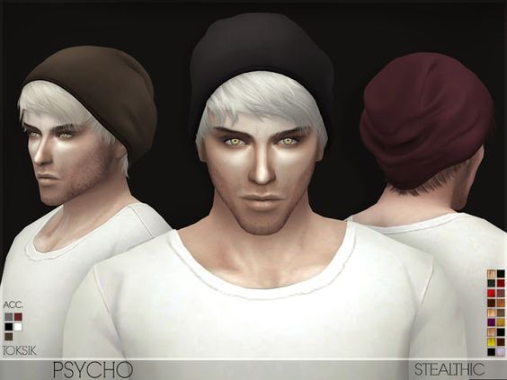 Sims 4 CC's - The Best: Stealthic - Psycho (Male Hair)