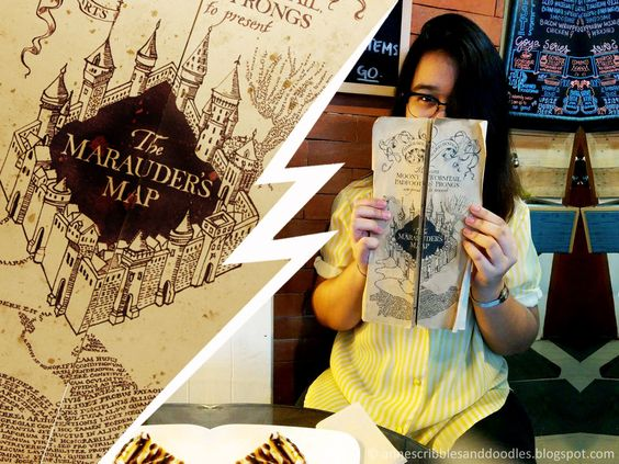 Nook Cafe, Maginhawa Street: Harry Potter Themed Cafe | Marauder's Map