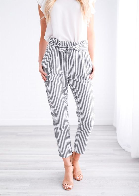 Striped Linen Pant | Jane