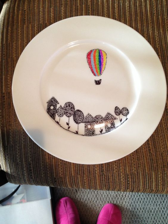 Sharpie Plates Plates And Homemade On Pinterest