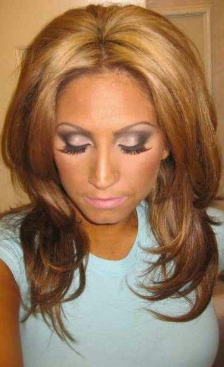 Tracy DiMarco hair & love her eye makeup