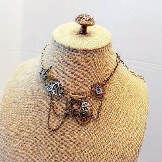 Art Deco Rhinestone embellished cuff bracelet Reconstructed vintage jewelry Wedding romantic fantasy bridal bridesmaid gift luxe hardware