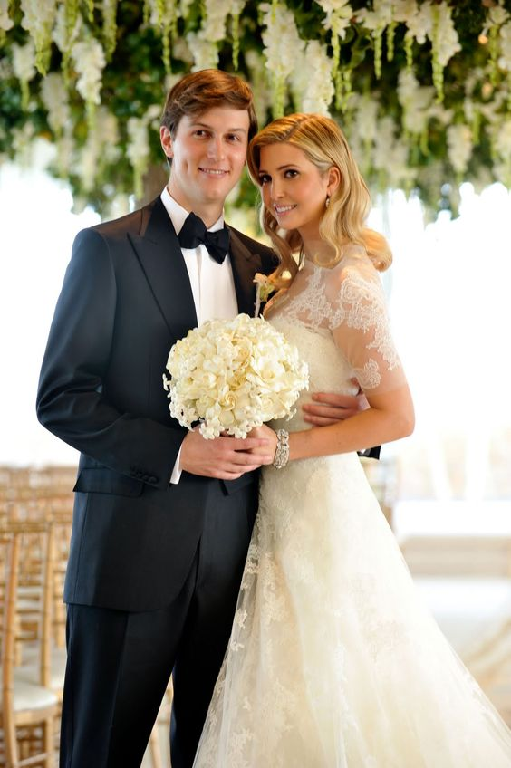 Ivanka Trump And Jared Kushner S Wedding Ivanka Trump Wedding Ivanka Trump Wedding Dress Trump Wedding