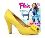 Flair Gele Pumps met Open Teen+Flair magazine 2013