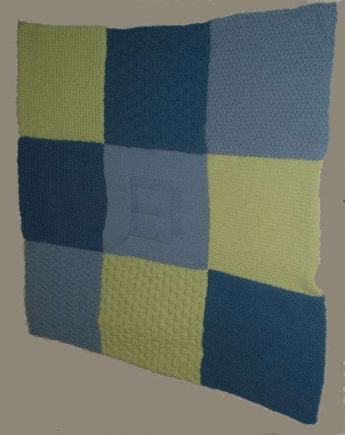 This baby blanket pattern involves nine blocks using different stitch patterns, making an interesting sampler for your favorite little one.