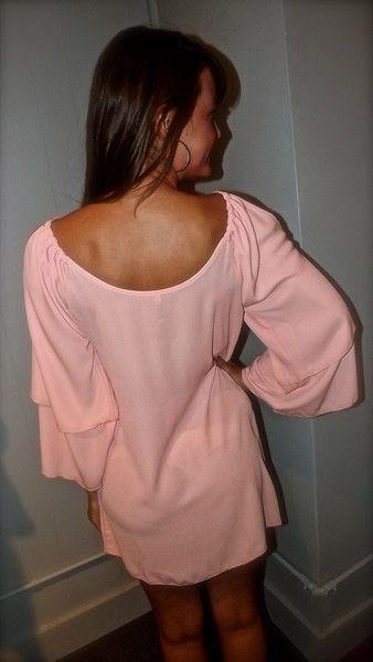 Peachy Cold-Shoulder Dress